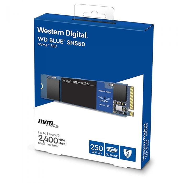 2. SSD WD BLUE SN550 250GB M.2 2280 NVMe Gen3x4 - WDS250G2B0C _songphuong.vn