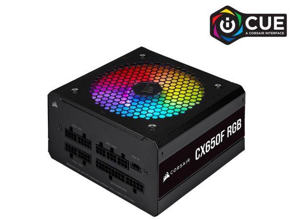 Nguồn Corsair CX650F RGB Black 80 Plus Bronze - Full Modul - CP-9020217-NA