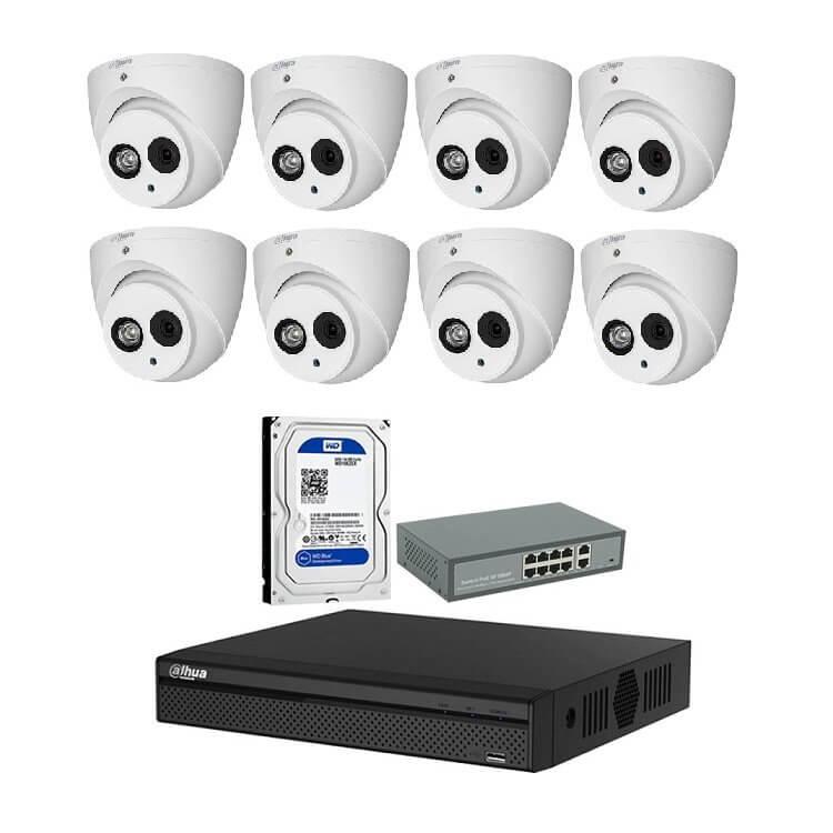 Trọn bộ 16 Camera IP 2MP - songphuong.vn