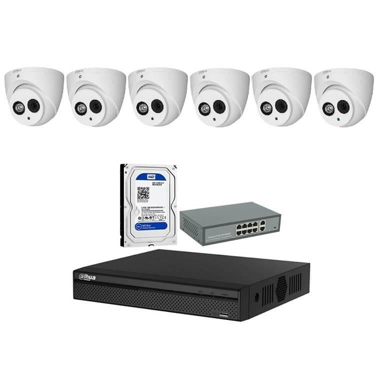 Trọn bộ 6 Camera IP 2MP - songphuong.vn