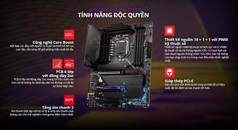 Mainboard MSI MPG Z590 GAMING PLUS - songphuong.vn