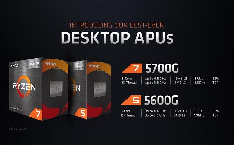 CPU AMD Ryzen 7 5700G - songphuong.vn