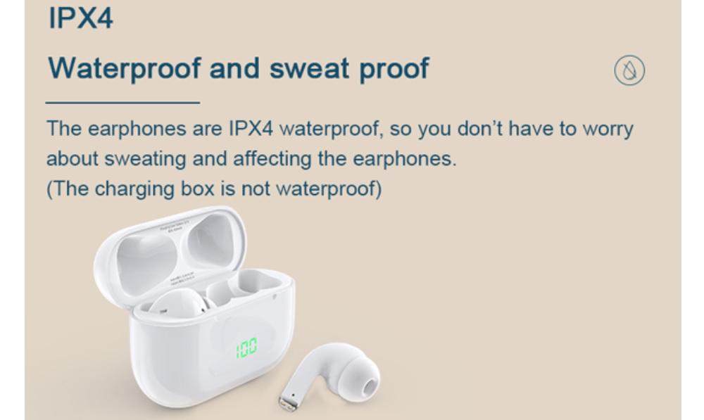 Chống nước IPX4 - Tai nghe True Wireless DareU D2 Earbuds - Bluetooth 5.1 - songphuong.vn
